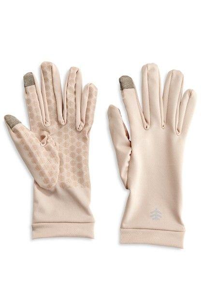 Coolibar---UV-schützende-Handschuhe-für-Touchscreens---Beige
