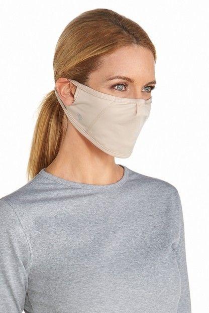 Coolibar---UV-schützende-Maske-für-Erwachsene---Blackburn---Beige