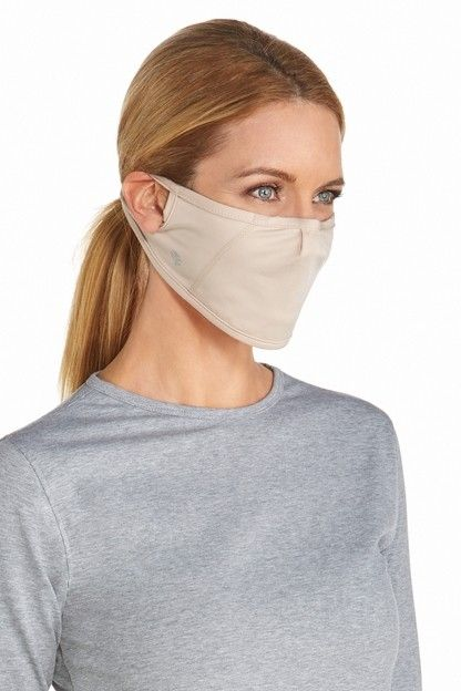 Coolibar---UV-schützende-Maske---Beige