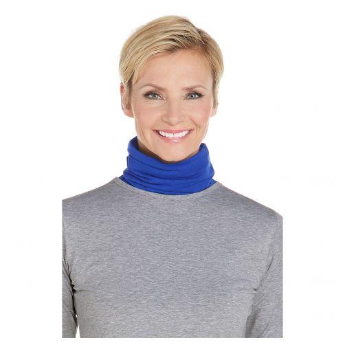 Coolibar---UV-Schlauchschal-mit-Zusatzstoff-unisex---Marineblau