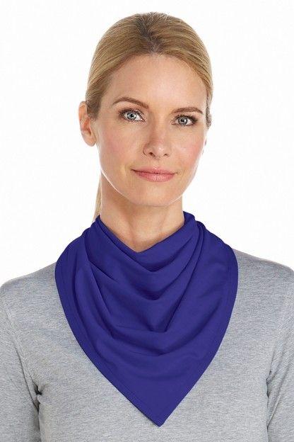 Coolibar---UV-schützendes-Bandana---Blau