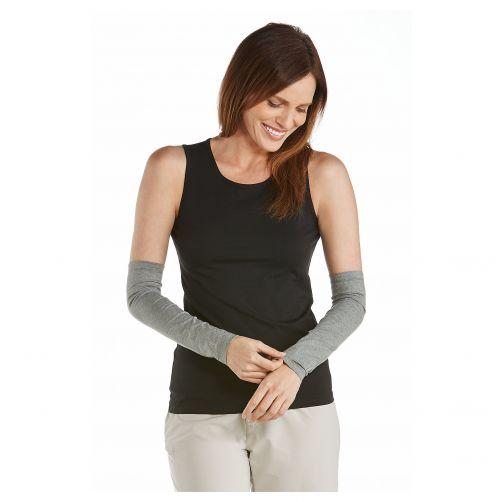 Coolibar---UV-Armstulpen-für-Damen---Grau