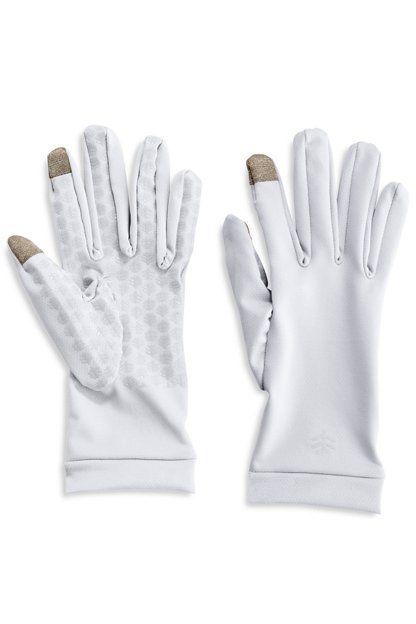 Coolibar---UV-schützende-Handschuhe-für-Erwachsene---Gannett---Weiß