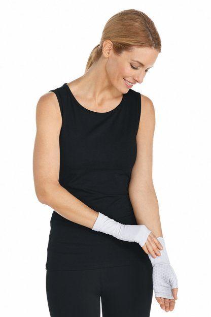 Coolibar---UV-schützende-Ärmel-für-Erwachsene---San-Gorgonio---Weiß