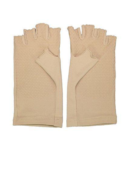 Coolibar---UV-schützende-fingerlose-Handschuhe---Beige