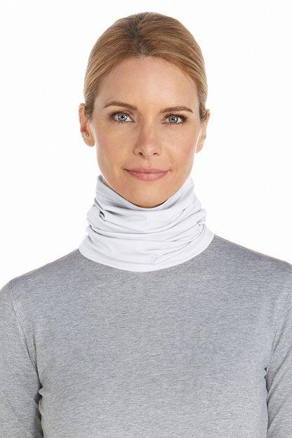 Coolibar---UV-schützender-Nackenschutz-für-Erwachsene---La-Plata---Weiß