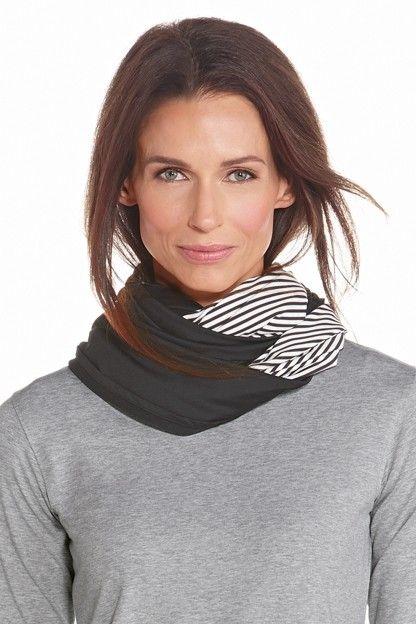 Coolibar---UV-schützender-Rundschal---Schwarz/Weiß