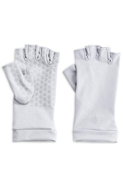 Coolibar---UV-schützende-fingerlose-Handschuhe-für-Erwachsene---Ouray---White