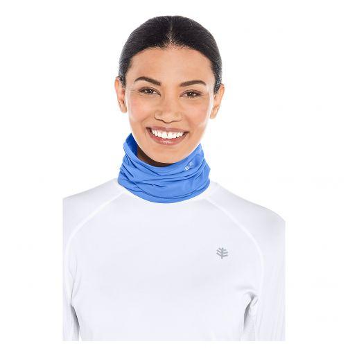 Coolibar---UV-schützender-Kragen-für-Hals-und-Gesicht---Blau