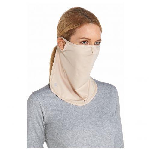 Coolibar---UV-Sonnenschutzmaske-unisex---Lang---Beige