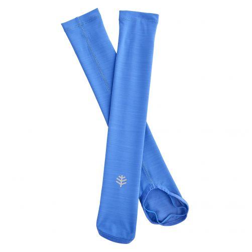 Coolibar---Sportliche-UV-Armstulpen-für-Kinder---Blau