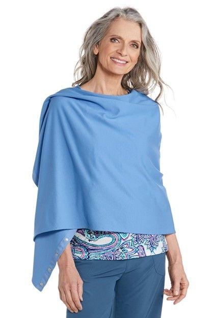 Coolibar---UV-schützender-variabler-Schal---Blau