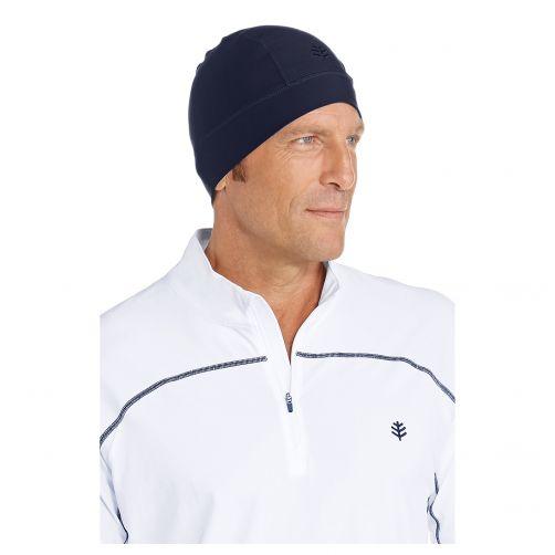 Coolibar---UV-Schwimmhaube-unisex--Marineblau