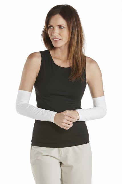 Coolibar---UV-schützende-Ärmel-für-Damen---Navagio---Weiß