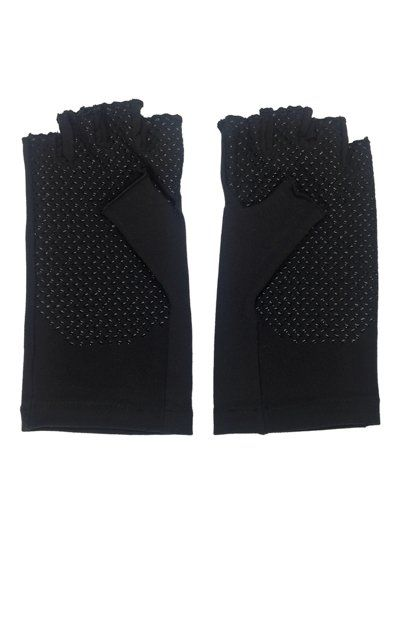 Coolibar---UV-schützende-fingerlose-Handschuhe---Schwarz