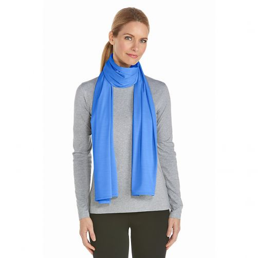 Coolibar---UV-Schützender-Schal---Hellblau