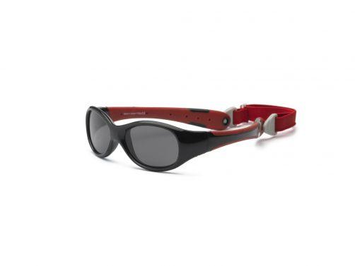 Real-Kids-Shades---UV-Sonnenbrille-für-Babys---Explorer---Schwarz/Rot