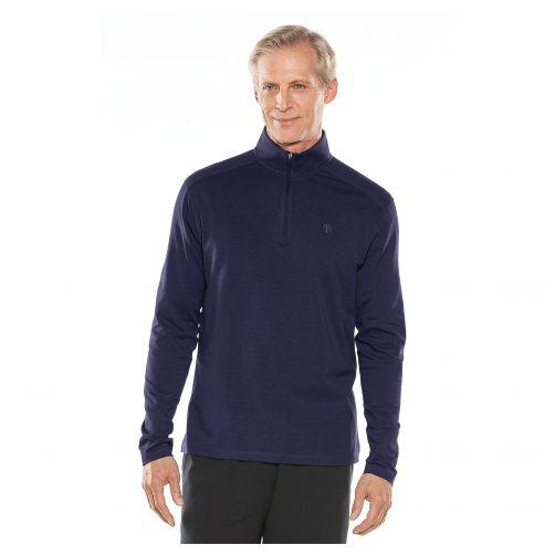 Coolibar---UV-Pullover-mit-Viertel-Zip-für-Herren---Sonora---Navy