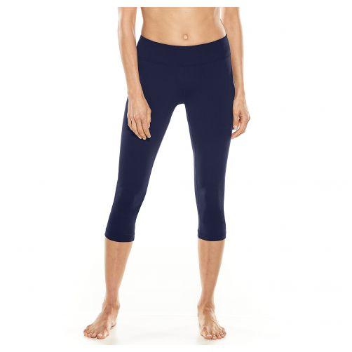Coolibar---UV-Schwimmleggings-3/4-Länge-für-Damen---Dunkelblau