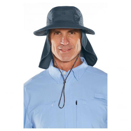 Coolibar---UV-Kappe-mit-Nacken---und-Ohrenschutz---Dunkelblau