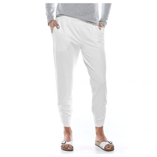 Coolibar---UV-Freizeithose-für-Damen---Weiß