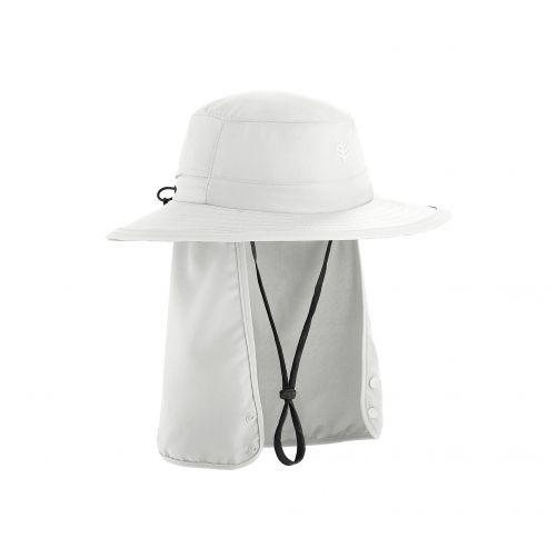 Coolibar---Kinder-UV-Hut-mit-versteckbarem-Nackenschutz---Weiß