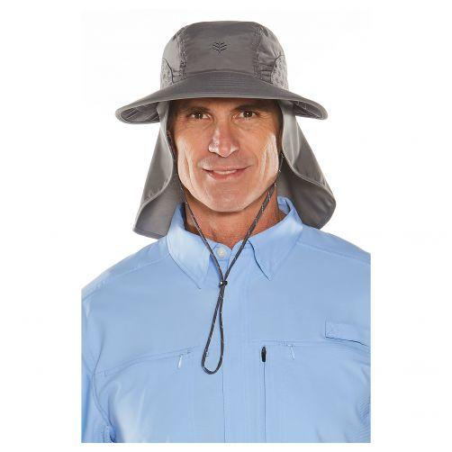 Coolibar---UV-Kappe-mit-Nacken--und-Ohrenschutz---Grau