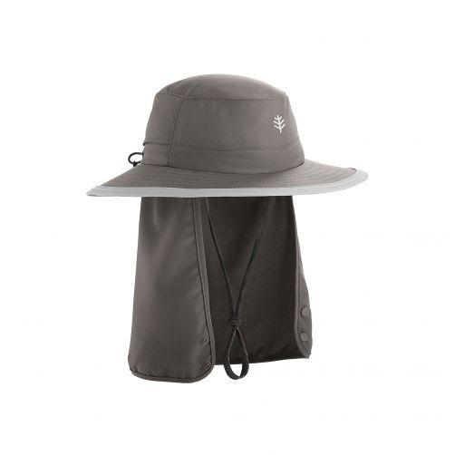 Coolibar---Kinder-UV-Hut-mit-versteckbarem-Nackenschutz---Dunkelgrau