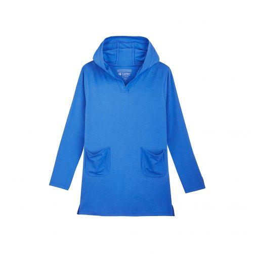 Coolibar---UV-Hoodiekleid-für-Mädchen---Blau