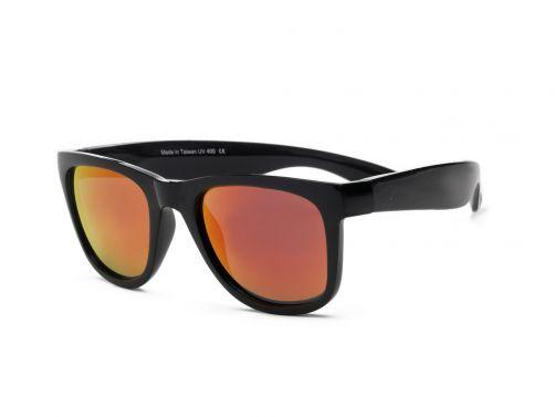 Real-Shades---UV-Sonnenbrille---Unisex---Schwarz-/-Schwarz-Rot