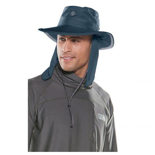 Coolibar---UV-Hut-mit-versteckbarem-Nackenschutz---Dunkelblau