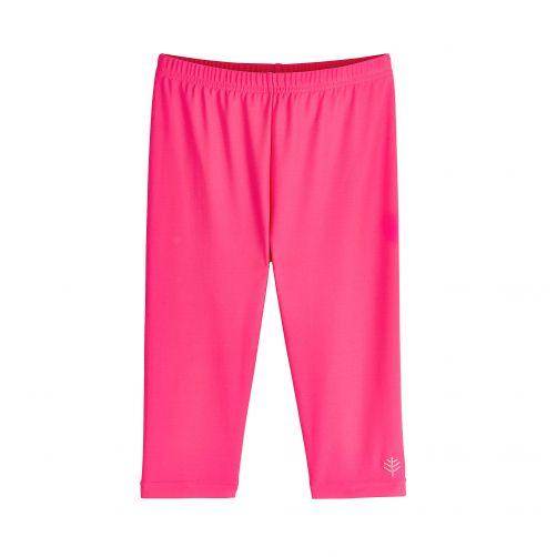 Coolibar---UV-Schwimmleggings-3/4-Länge-für-Kinder---Pink