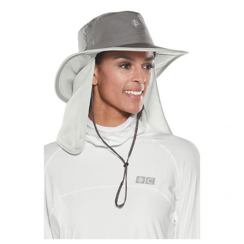 UV-Hut-mit-versteckbarem-Nackenschutz---grau