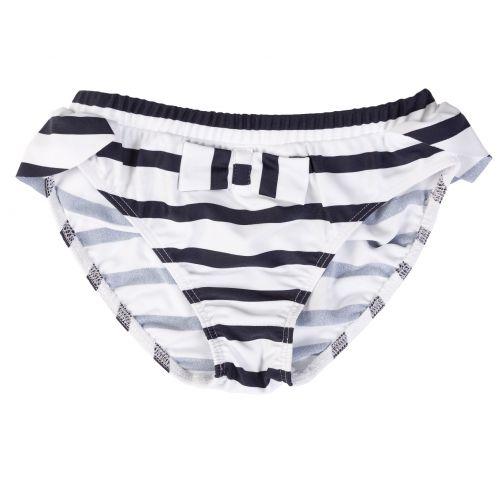 Petit-Crabe---UV-Bikinishorts---Gestreift---Weiß/Blau