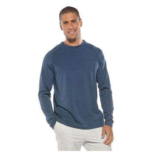 Coolibar---UV-Shirt-für-Herren---Dunkelblau-meliert