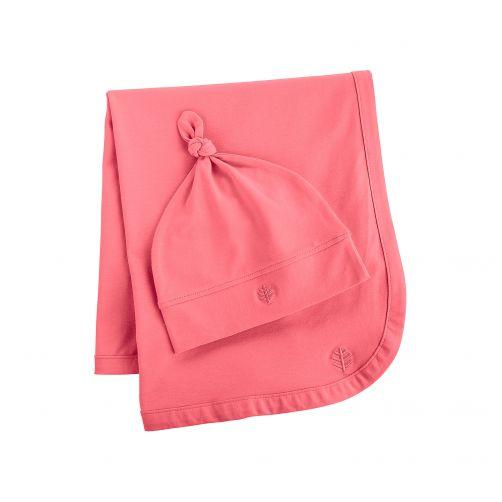 Coolibar---UV-Set-Babymütze-und-Decke---Rosa