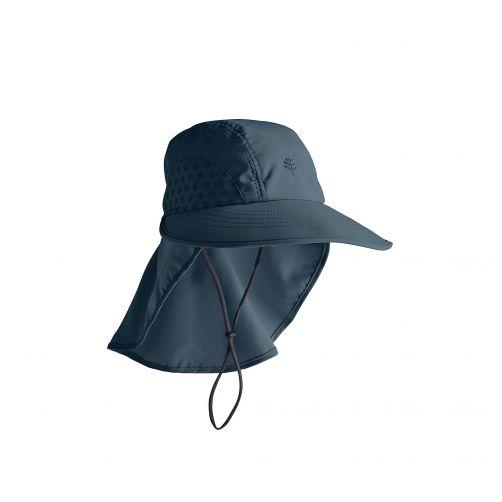 Coolibar---UV-Kappe-mit-Nackenschutz-für-Kinder---Dunkelblau
