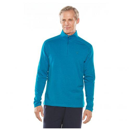 Coolibar---UV-Langarmshirt-für-Herren---Dunkelblau-meliert