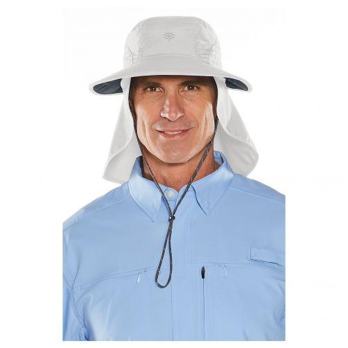 Coolibar---UV-Kappe-mit-Nacken--und-Ohrenschutz---Hellgrau