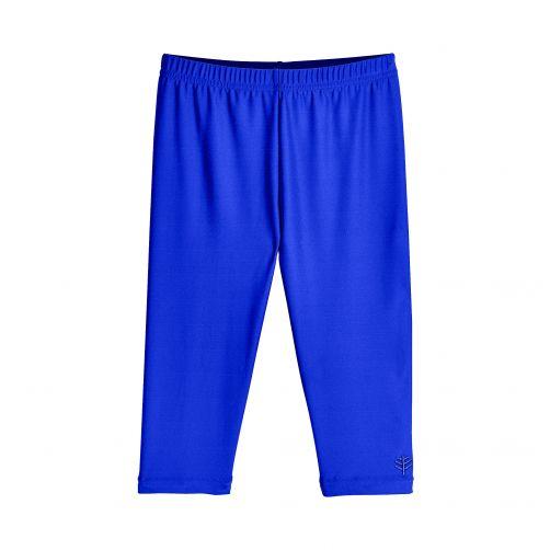 Coolibar---UV-Schwimmleggings-3/4-Länge-für-Kinder---Blau