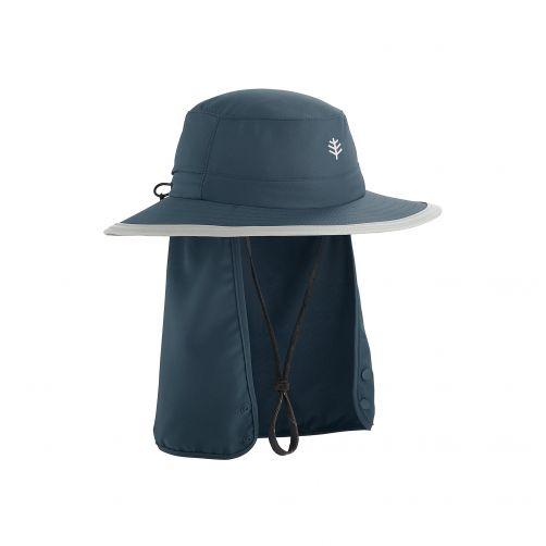 Coolibar---Kinder-UV-Hut-mit-versteckbarem-Nackenschutz---Dunkelblau