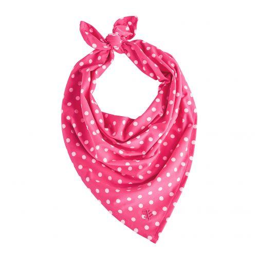 Coolibar---UV-schützendes-Bandana-für-Kinder---Pink/Weiß-gepunktet
