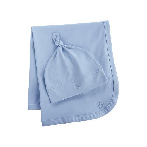 Coolibar---UV-Set-Babymütze-und-Decke---Hellblau