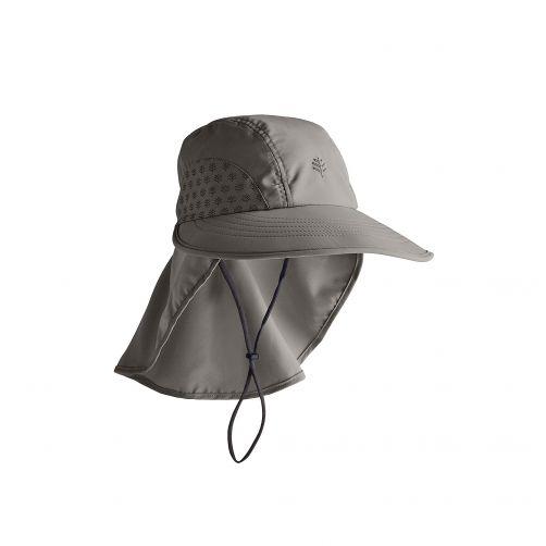 Coolibar---UV-Kappe-mit-Nackenschutz-für-Kinder---Dunkelgrau