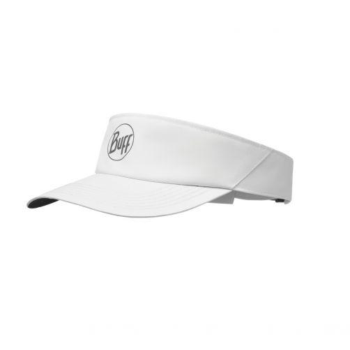 Buff---Sun-Visor-Cap-für-Erwachsene---Reflective-Logo---Weiß
