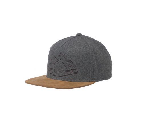 Buff---Snapback-Cap-Tyree-für-Erwachsene---Grau/Braun