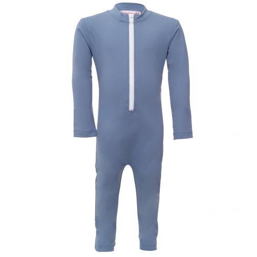 Petit-Crabe---UV-Schwimmanzug-Langärmlig---Indianer---Blau