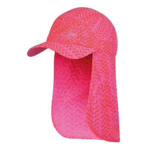 Buff---UV-Schutzkappe-mit-Nackenschutz-für-Mädchen---Bimini---Fuchsia