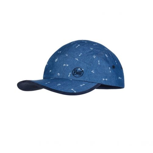 Buff---UV-Sonnenkappe-für-Kinder---5-Panel-Cap---Arrows---Blau