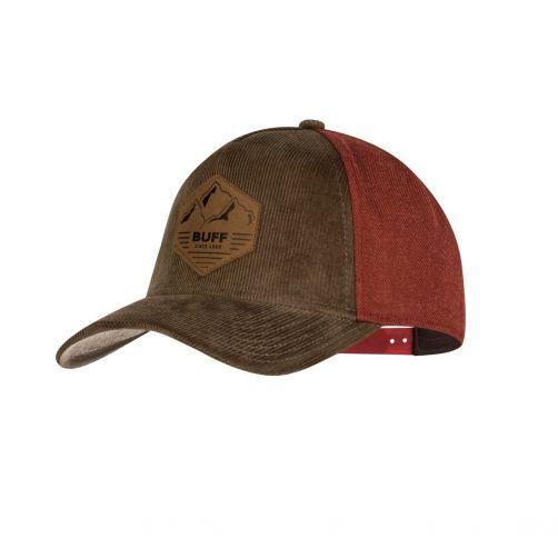 Buff---Snapback-Cap-Sergei-für-Erwachsene---Braun/Rot-braun